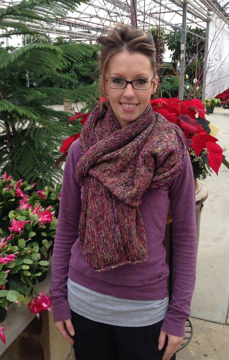 purple toned shawl/scarf