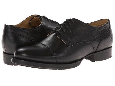 Frye Erin Lug Oxford Black Soft Vintage Leather Zappos