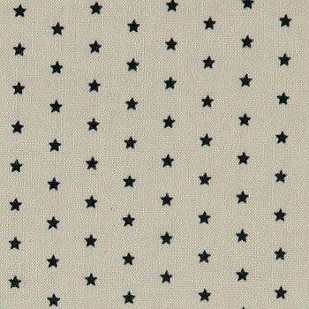Baumwolle m/Sternen Staubgrün