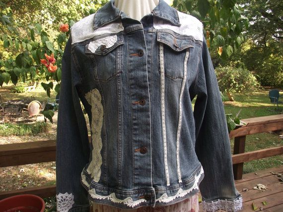 Hey, I found this really awesome Etsy listing at https://www.etsy.com/listing/251731310/ladies-denim-jacket-with-vintage-laces