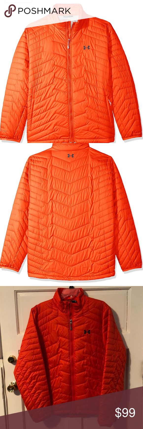 NWT Under Armour Men's ColdGear Reactor Jacket L NWT Under Armour Men's ColdGear Reactor Jacket Large. Orange. Great jacket!! Under Armour Jackets & Coats Puffers