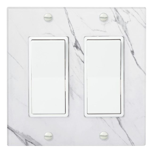 Elegant White Marble Light Switch Cover Zazzle Com Light Switch Covers Switch Covers Modern Light Switches