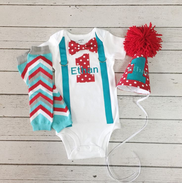 Baby Boys First Birthday Outfit Teal Red, Winter One-derland, Boys Birthday Hat, Baby Boy Chevron Leg Warmers, Baby Boy Clothes, Bow Tie by BetterThanBows on Etsy https://www.etsy.com/listing/227752620/baby-boys-first-birthday-outfit-teal-red