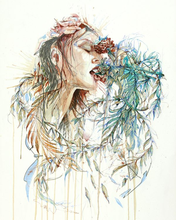 Journey - an exhibition of Drawings by Carne Griffiths by Carne Griffiths, via Behance
