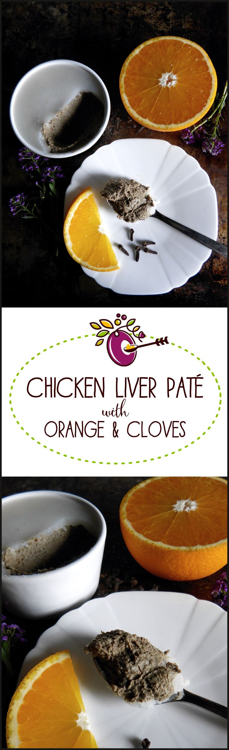 Chicken Liver Patè with Orange and Cloves -sublime! And so good for you. Paleo AIP recipe, just 4 ingredients and easy to make. Click through for this one!