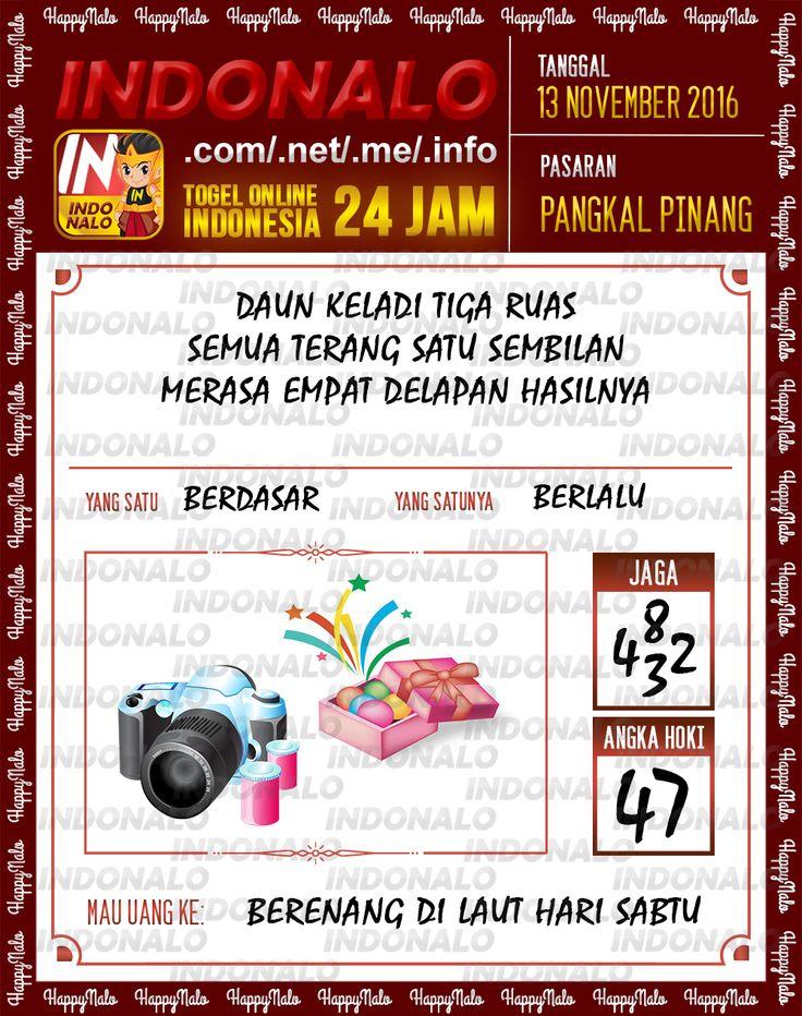 Angka Jaga 3D Togel Wap Online Live Draw 4D Indonalo Pangkal Pinang 13 November 2016