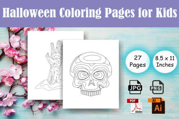 Halloween Coloring Pages For Kids Kdp Graphic By Sei Ripan Creative Fabrica Malvorlagen Halloween Malvorlagen Fur Kinder
