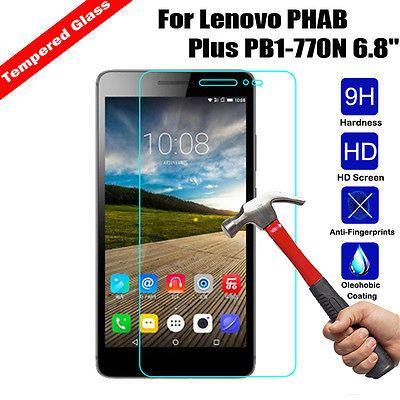 Tempered Glass Screen Protector Protective Film Fr Lenovo PHAB Plus PB1-770N 6.8