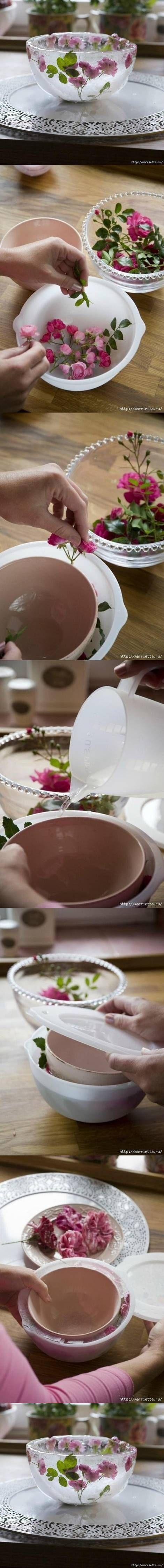 DIY Flower Bowl diy craft crafts diy crafts how to tutorial home crafts
