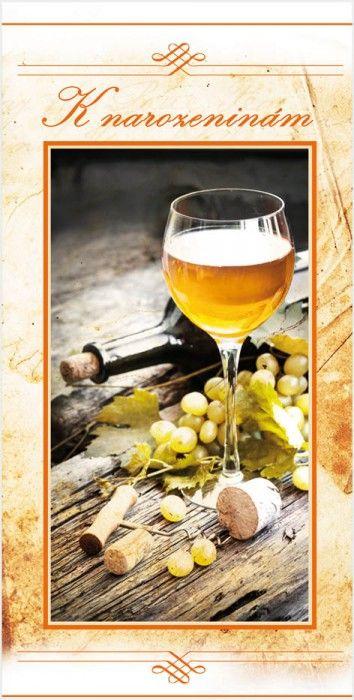 Blahopřání k narozeninám STIL 787 s vínem