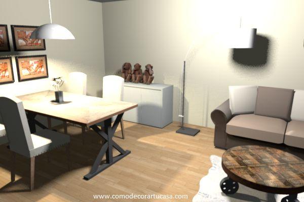 Decoraci n living comedor espacios peque os decoraci n - Muebles para comedor pequeno ...