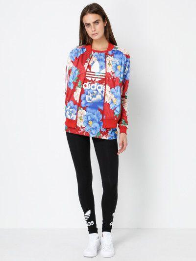43eefa8af37 Adidas Chita Superstar Track Jacket in Red Floral | Looks casual ...