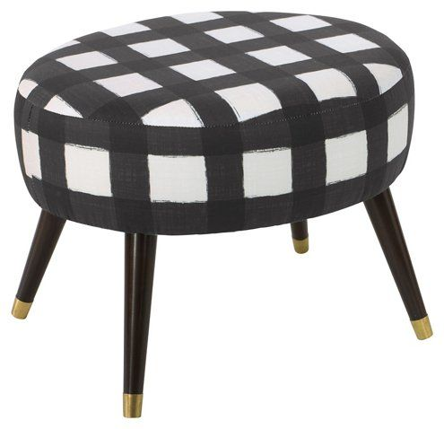 Dani Ottoman, Buffalo Black - Ottomans - Living Room - Furniture | One Kings Lane