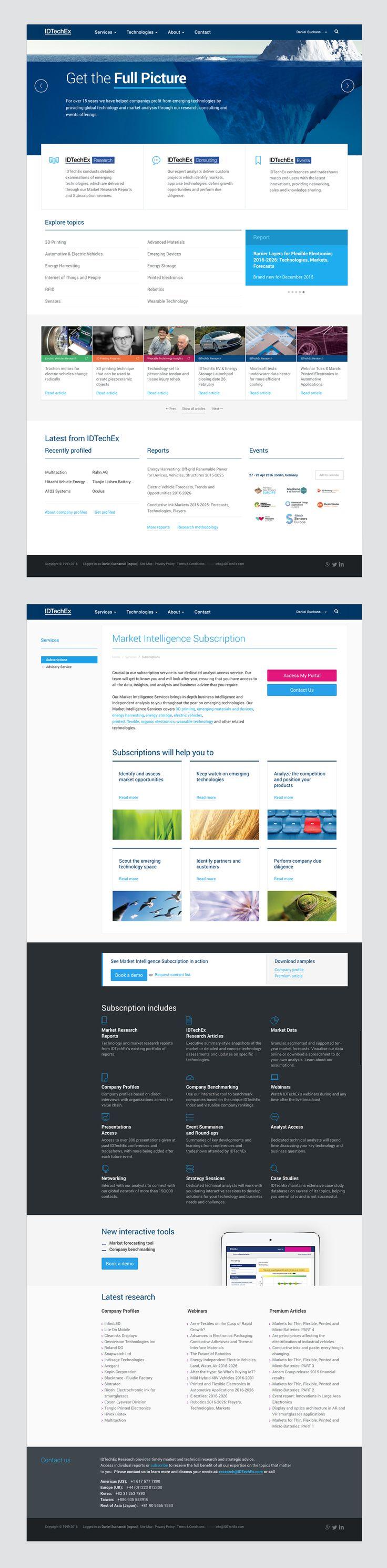 IDTechEx: Emerging Technologies Consultancy  website