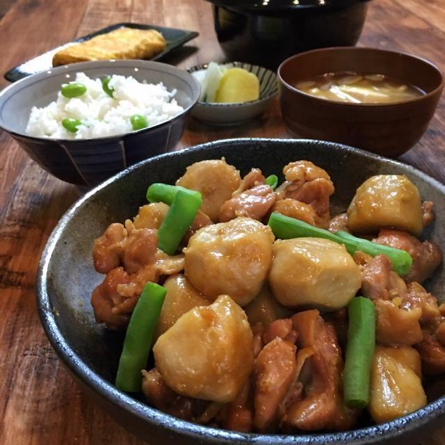 里芋と鶏肉の煮ころがし