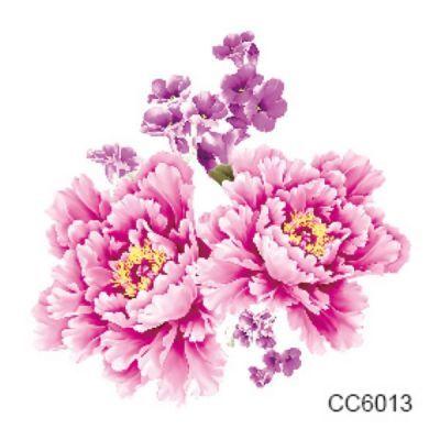 Pembe Mor Çiçekler Geçici Dövme, Tattoo, Temporary Tattoo