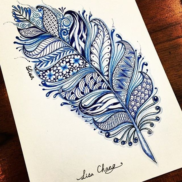 Lovely mandala feather ✨ By @lisa565998 - #worldofartists