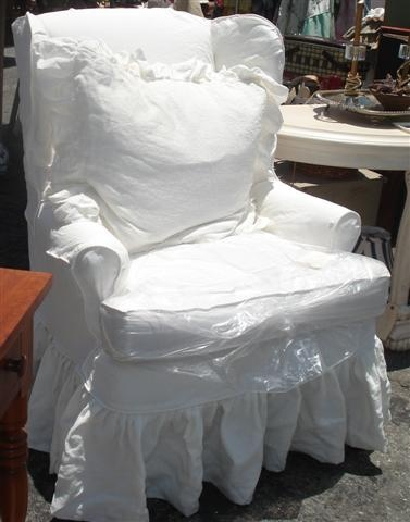 Great slipcovered wing chair