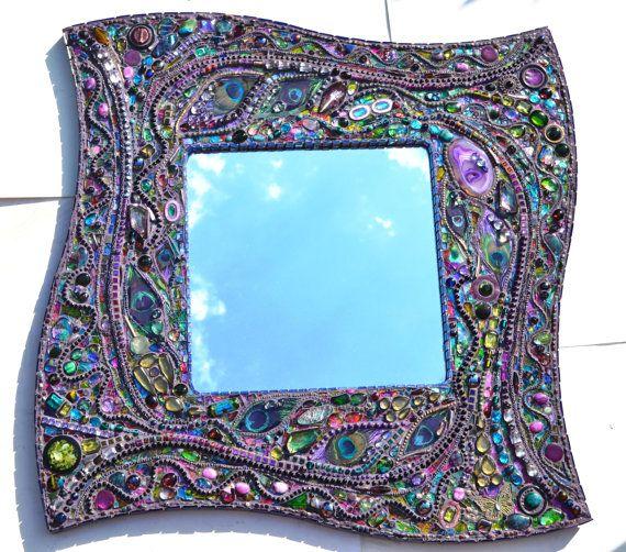 Peacock Mosaik Spiegel  Mosaikkunst Real von NikkiEllaWhitlock