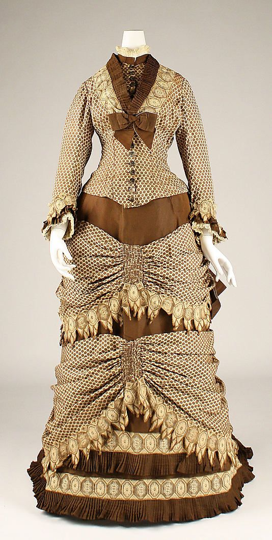 Dress (front view) Date: 1873–79 Culture: American Medium: silk Accession Number: 1989.246.7