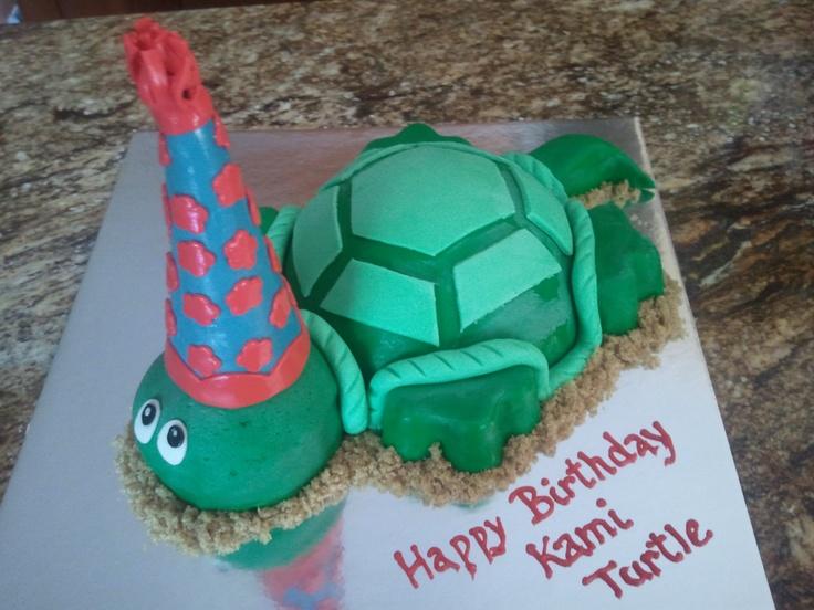 Turtle Shaped Birthday Cake Birthday Cakes Pinterest ...