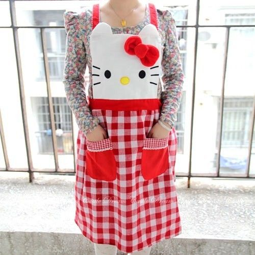 hello kitty apron | Hello Kitty Apron^^ I want!