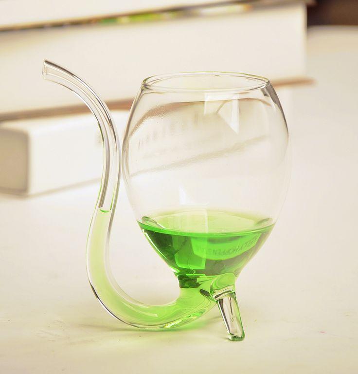 2 шт. 300 МЛ Прозрачный бокал с соломы новизна соломы бокал yizi