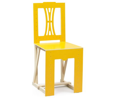Woodstock #Chair by Lars Stensö. Septyember is Yellow #chair month on Chair Blog