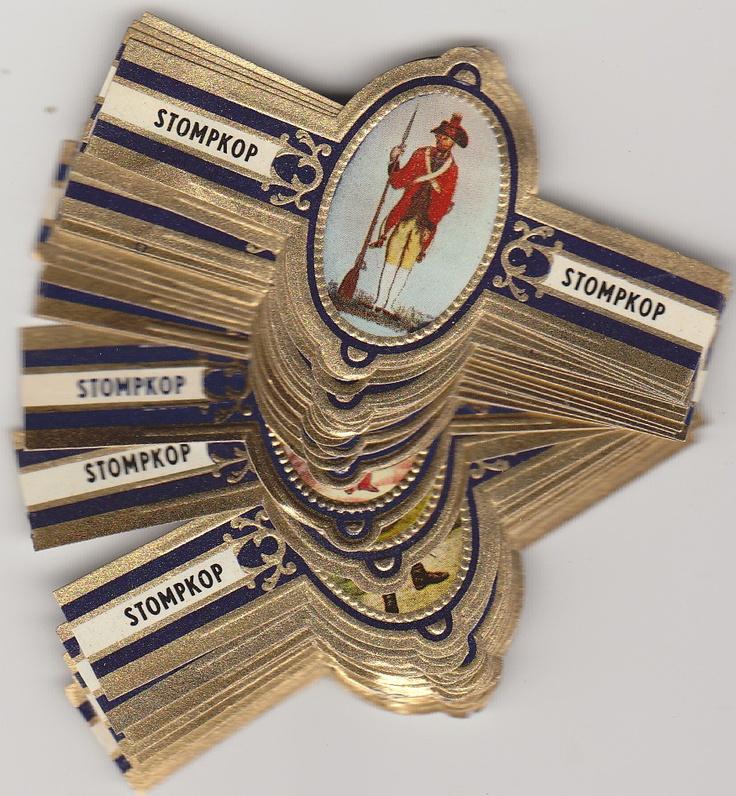 50 cigar bands Stompkop War uniforms Nr1-50 dark blue