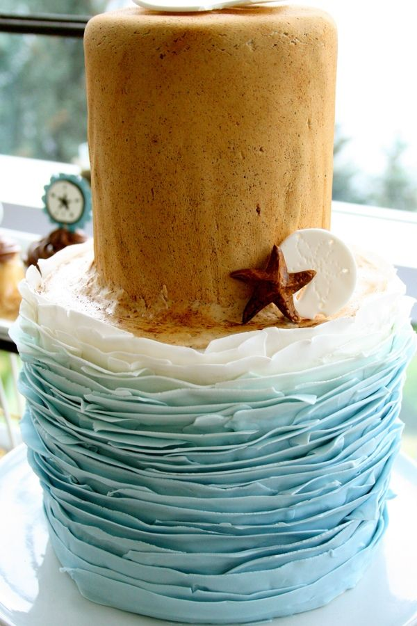 how to make waves on a cake with fondant