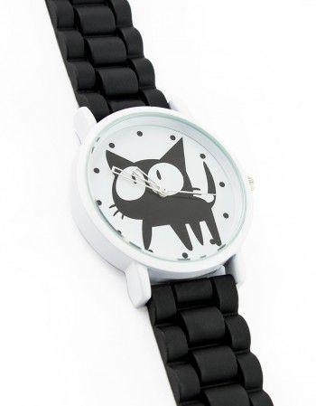Zegarek Kot Czarny