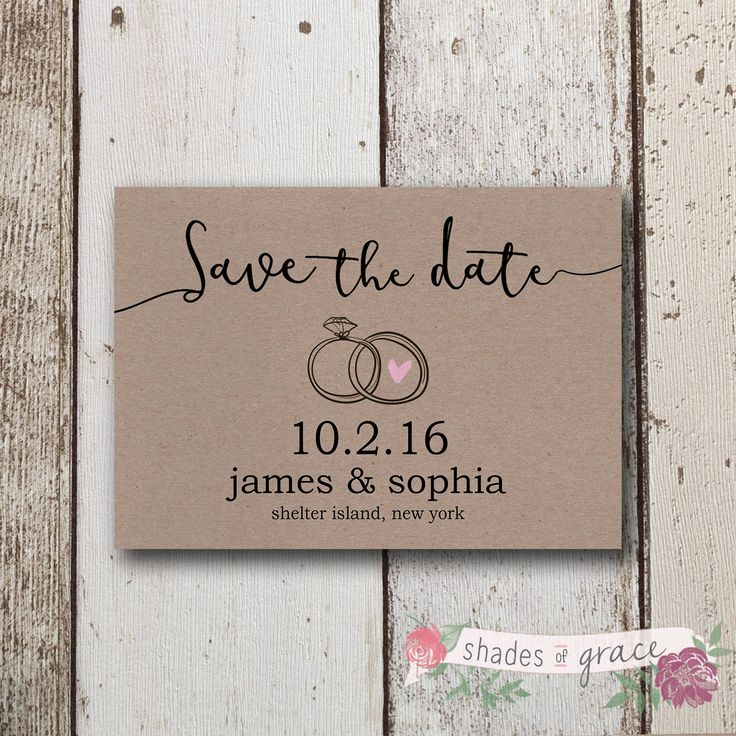 diy wedding invites rustic%0A DIY Printable Save The Dates  Rustic Save The Date Invites  Kraft Paper  Invite
