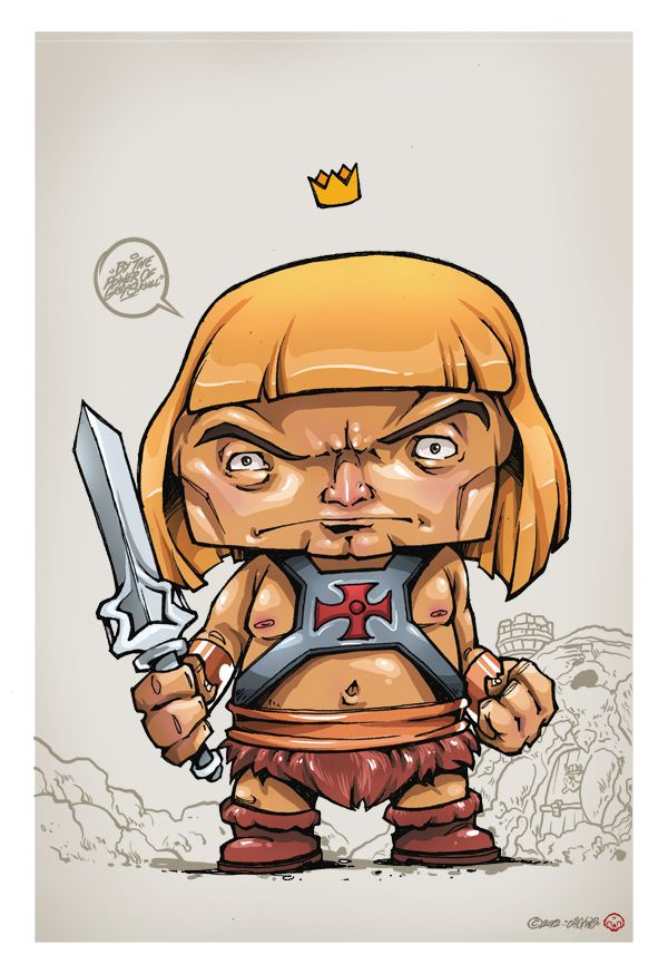 Character Design Masters : The masters of universe series by clog two via