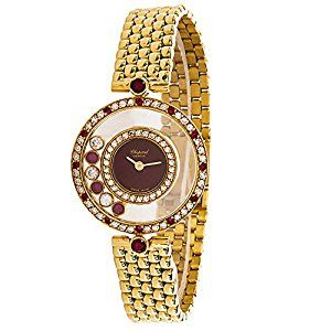 Chopard Happy 20/4191-21 Ladies Watch in 18K Yellow Gold, Diamond and Rubies (Certified Pre-Owned)