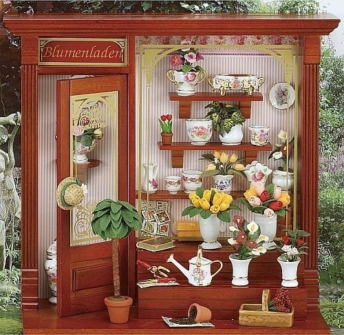Flower Shop Miniatures Room Box Display By Reutter