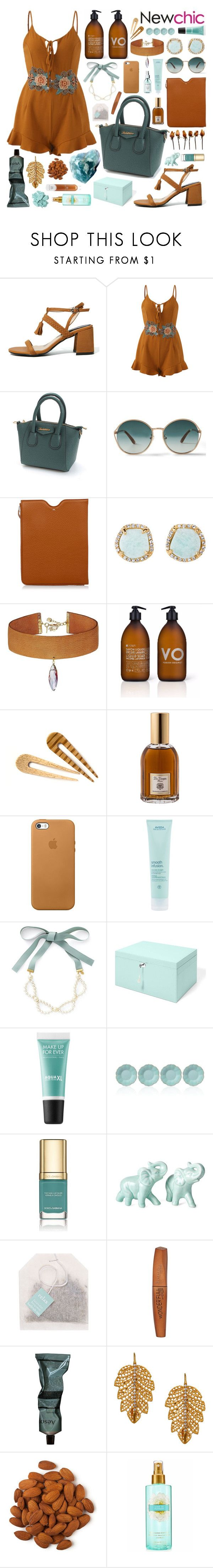 """""""trouble is a friend and trouble is a foe // fashion set + Newchic Anniversary SALE !!!"""" by gabriella-houck on Polyvore featuring TOMS, Maison Margiela, Louise et Cie, Vanessa Mooney, La Compagnie de Provence, Dr. Vranjes, Aveda, MAKE UP FOR EVER, Lenox and Dolce&Gabbana"""