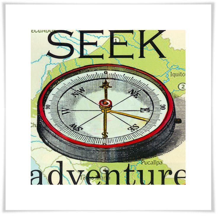 Seek Adventure, Vintage Inspired Art Prints | Shelly Kennedy: drooz studio for Oopsy daisy