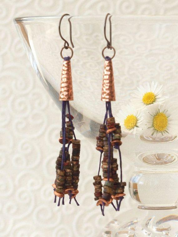 festival earrings boho festival earrings by HandmadeEarringsUk