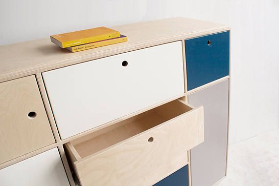 BLISS.2 a plywood, scandinavian chest of drawers / cupboard / cabinet. * designed by Wood Republic BLISS.2 was created to deliver pure happiness from using a piece of furniture. It is an effect of total lack of limits in designing the product. BLISS chest of drawers is a mixture of