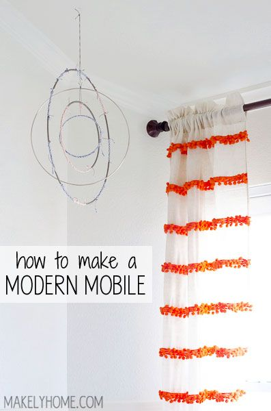 How to Make a Modern Mobile via MakelyHome.com, I am going to make this however I will not wrap string around it but put it together with fishing line.