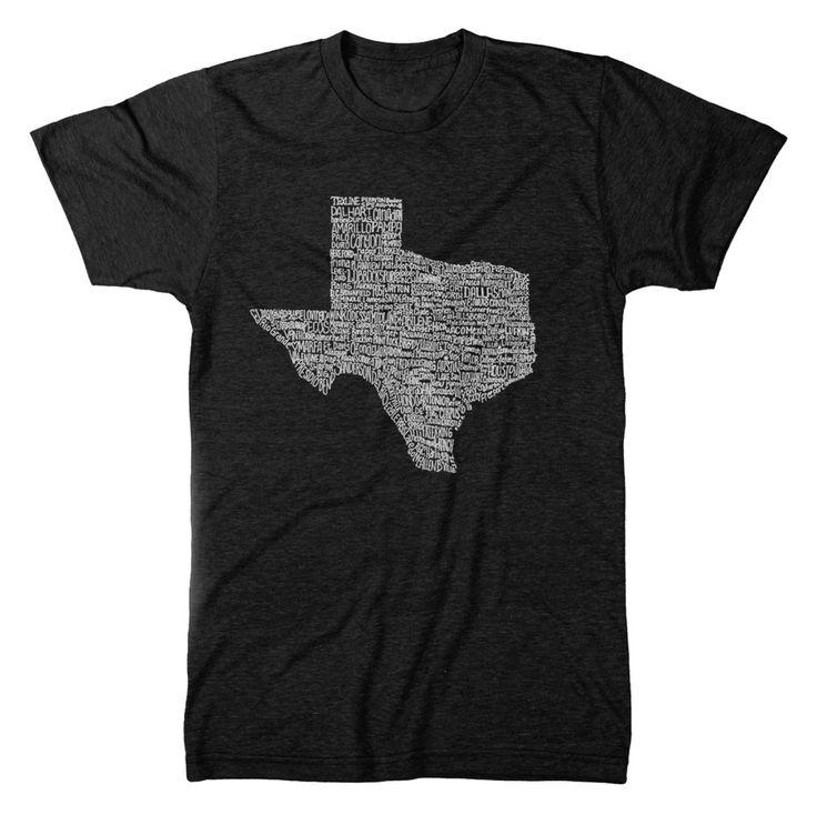 Texas Towns T-Shirt - Mens   (8 Color Options)