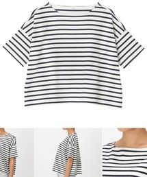 無印良品 | オーガニックコットンドロップショルダーTシャツ(五分袖)(Tシャツ・カットソー)