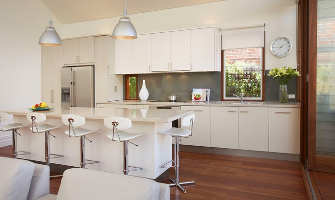 White Kitchen Dark Grey Splashback Kitchen Pinterest