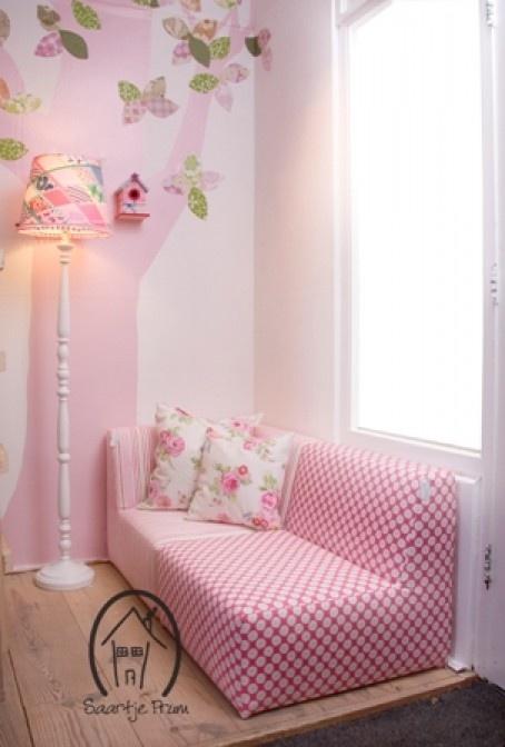25 beste idee n over roze meisjeskamers op pinterest roze meisjes slaapkamers meisjes - Wallpaper volwassen kamer zen ...