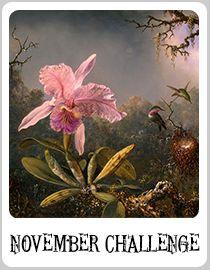 "Art Bead Scene November Monthly Challenge ""Cattelya Orchid and Three Hummingbirds"" by Martin Johnson Heade http://artbeadscene.blogspot.com/2014/11/november-monthly-challenge.html"