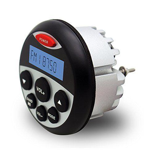 #marineelectronics Waterproof Marine Radio FM AM MP3 Gauge Stereo Bluetooth Music for BOAT ATV UTV SPA: marineelectronics are presently…