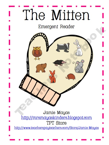 "FREE emergent reader to go with ""The Mitten"" by Jan Brett **Let them ..."