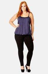 City Chic Bubble Hem Camisole (Plus Size)