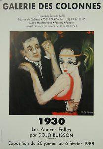 Affiche-Expo-Dolly-Buisson-1930-les-annees-folles-Galerie-des-colonnes-1988