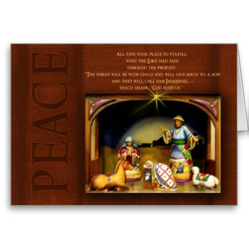 Old time nativity scene with bible verse